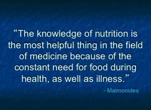 knowledge of nutrition