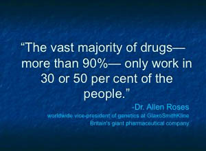 vast majority of drugs
